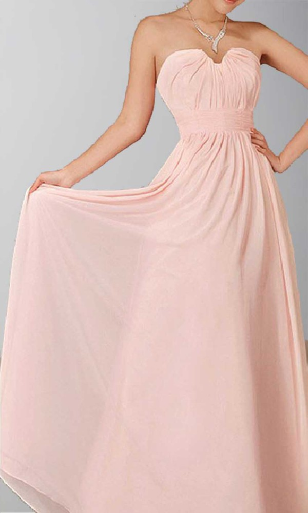 simple formal dress pink dress long prom dress sweetheart dress chiffon long bridesmaid dress