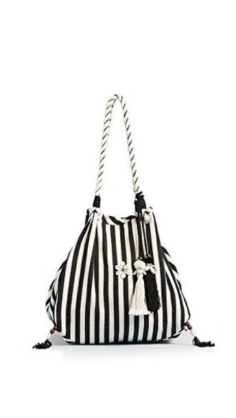 JADEtribe beach bag white black