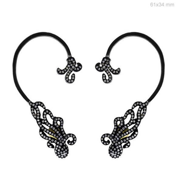 jewels diamonds silver gold earrings ear cuff diamond earrings diamond jewelry silver jewelry gold jewelry fashion jewelry fashion earring designer jewelry handmade jewelry wedding earrings latest fashion abhaas jewels