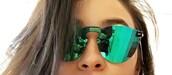 sunglasses,green,shay mitchell,mirrored sunglasses