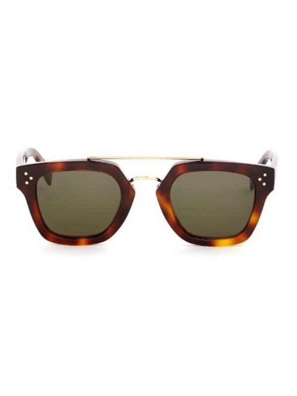 JOJOS SECRET Oversized Square Sunglasses Metal Frame Flat