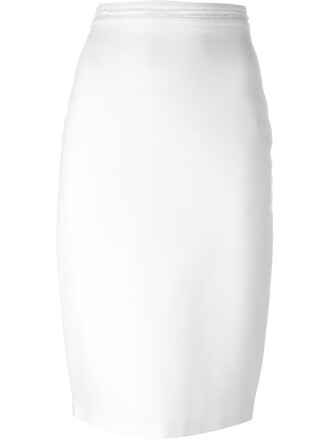 skirt pencil skirt women midi spandex white