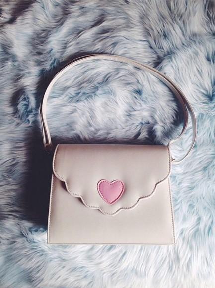 heart cream bag handbag melanie martinez