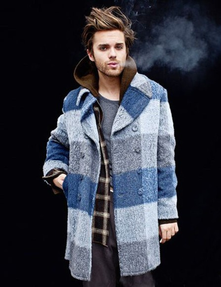 coat menswear boys plaid coat sweater