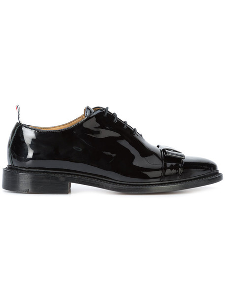 Thom Browne bow women oxfords leather black shoes