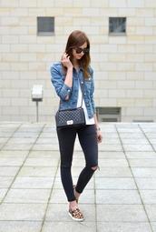 vogue haus,top,jeans,jacket,bag,jewels,sunglasses
