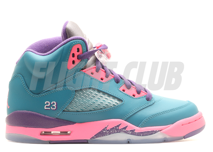 girls air jordan 5 retro (gs) - trpcl tl/wht-dgtl pnk-crt prpl - Air Jordan 5 - Air Jordans  | Flight Club