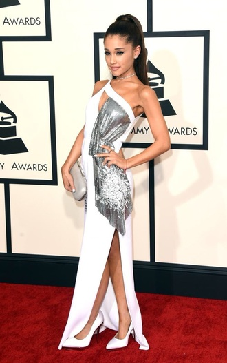 dress gown glitterdress ariana grande dress
