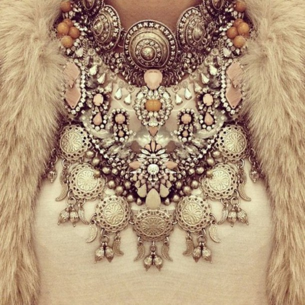 jewels necklace embellished