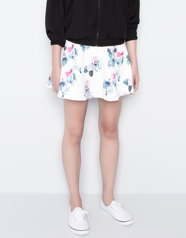 FLORAL PRINT SKIRT - SKIRTS - WOMAN - PULL&BEAR United Kingdom