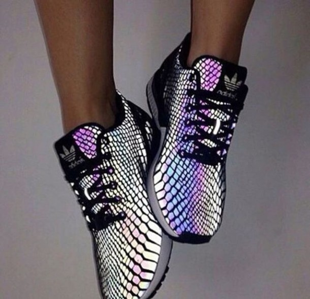 adidas holographic trainers