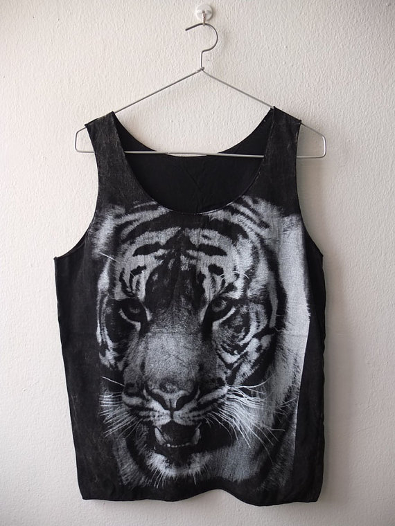Tiger animal lion fashion punk rock Tank Top Vest by Badconceptual