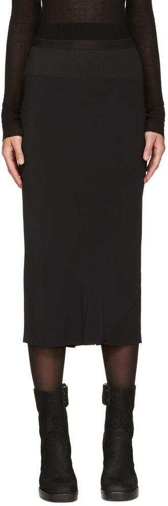 skirt asymmetrical black