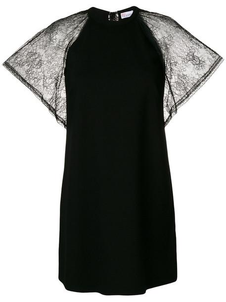 dress shift dress women spandex lace black