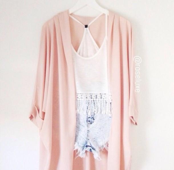 cardigan kimono pink cute pretty spring