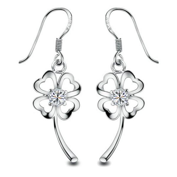 gold plated flower drop earring for sensitive ears ear stud
