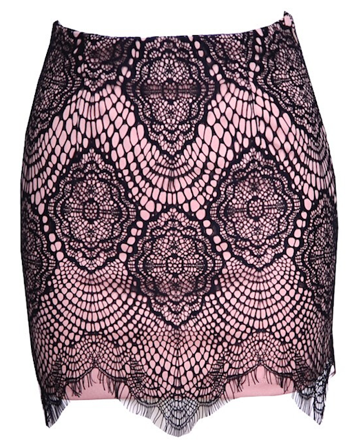 Raw Glitter | Sexy Semi-Sheer Lace Eyelash Skirt, Women's Laced Skirts
