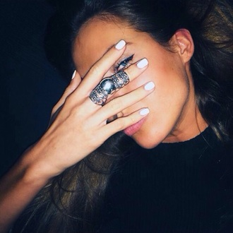 jewels ring rings fashion style silver ring silver ring with amethyst georgeous perfecto perfect dope wishlist armor ring