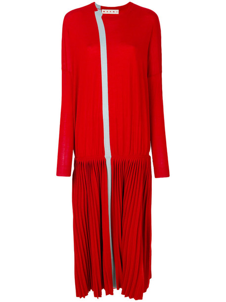 MARNI dress women wool red