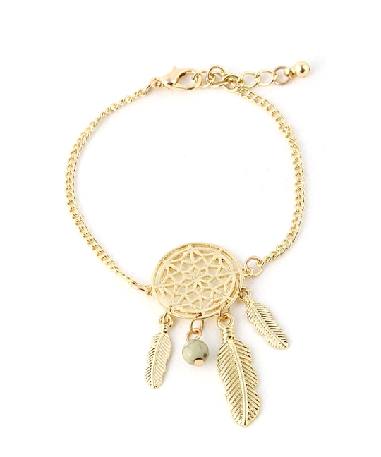 Dream catcher chain bracelet