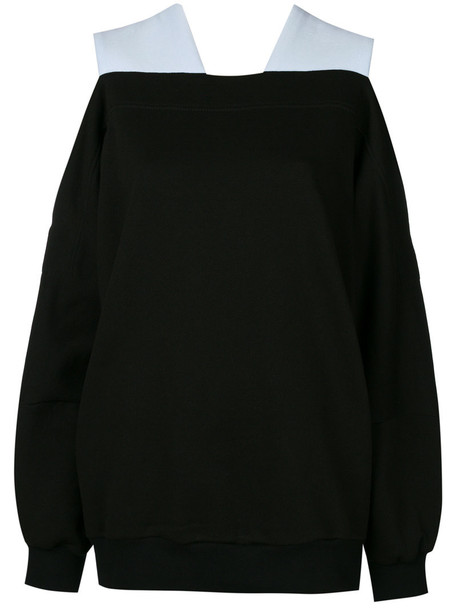 Ioana Ciolacu jumper oversized women cotton black knit sweater