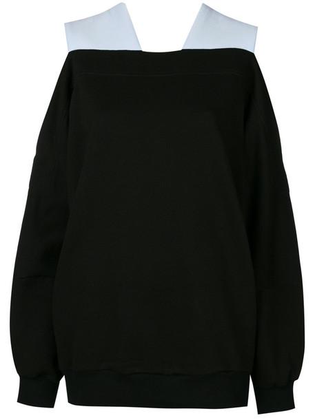 jumper oversized women cotton black knit sweater