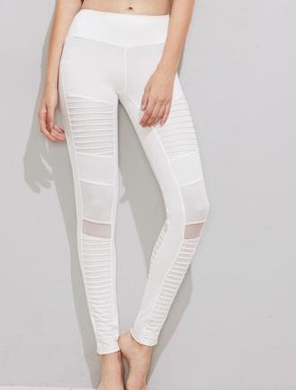 leggings girly workout leggings white mesh mesh leggings mesh panel