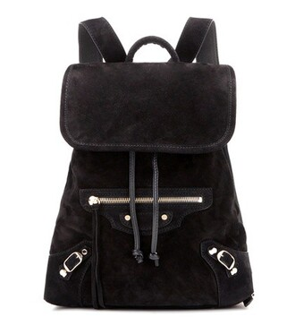 classic backpack suede black bag