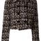 Dolce & gabbana tweed jacket, women's, size: 40, black, wool/acrylic/mohair/spandex/elastane