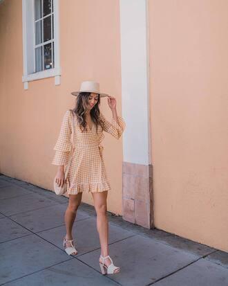 shoes sandals white sandals bag shoulder bag dress dots dress hat