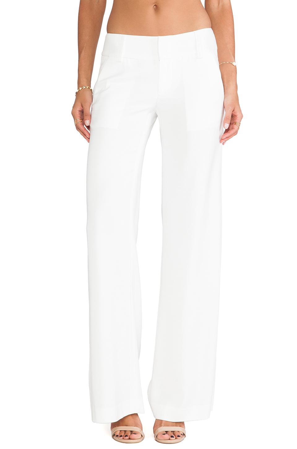 Alice   Olivia Eric Pant in White from REVOLVEclothing.com