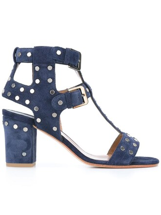 studded women sandals studded sandals leather blue shoes