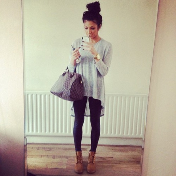 Shoes: boots, tank top, fall, shirt, sweater, blouse ...