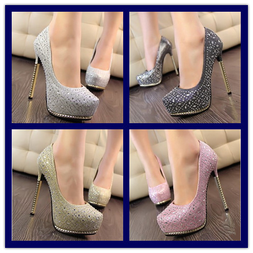 Woman's Princess Sexy Dress Shoes Lady High Heel Shoe Girl's Korean Fashion shoes Ladies New Arrival shoe Women Designer Pumps on Aliexpress.com