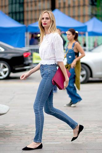 le fashion image blogger top blouse bag