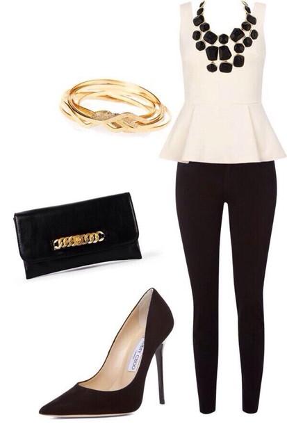 tank top shoes bag blouse jeans jewels necklace black tumblr cute