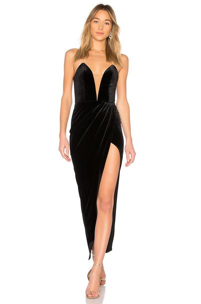 Michael Costello gown black dress
