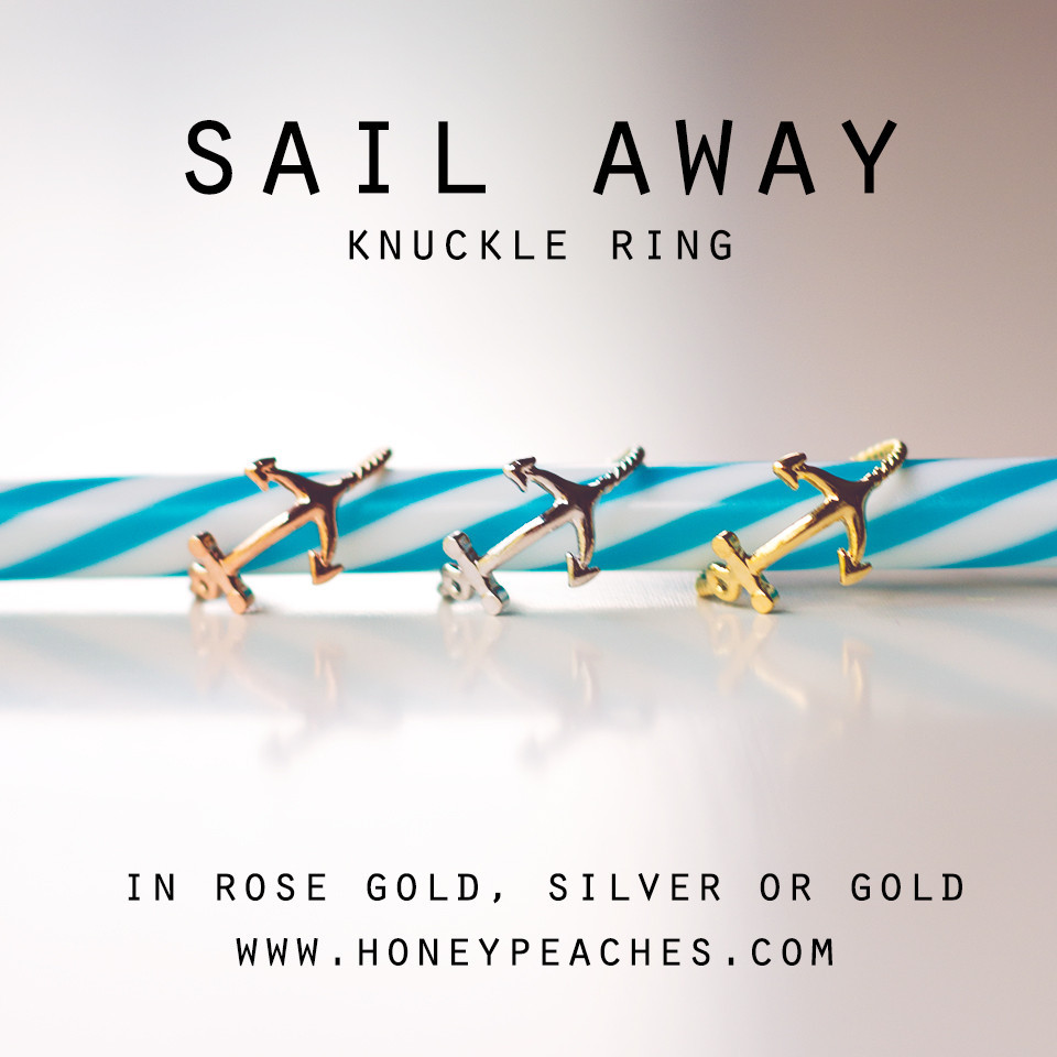 Sail Away Knuckle Ring – Honey Peaches
