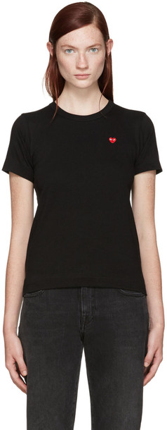 Comme Des Garçons Play Black Small Heart Patch T-shirt