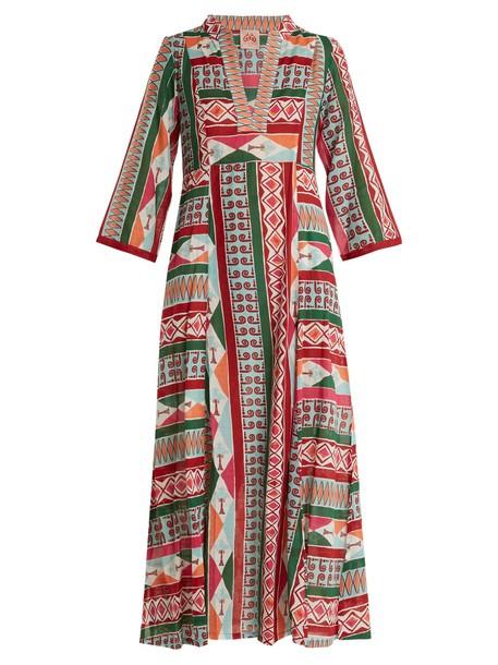 LE SIRENUSE, POSITANO dress cotton print pink