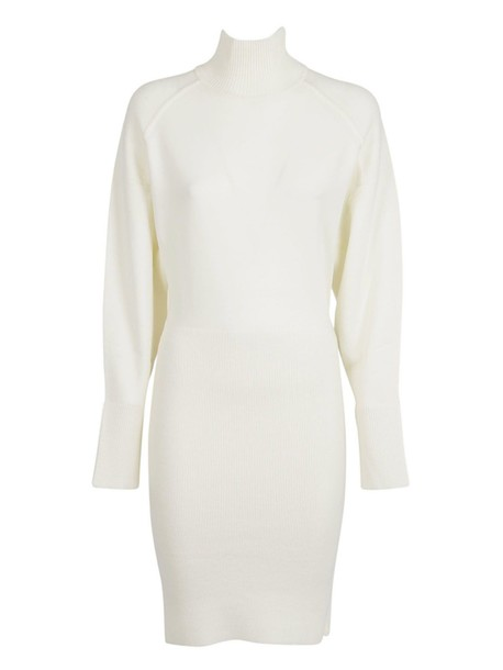 dress turtleneck dress white