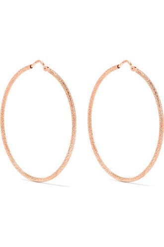 rose gold rose earrings hoop earrings gold jewels