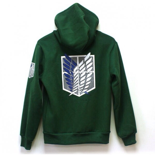 jacket green attack on titan hoodie wings of freedom anime