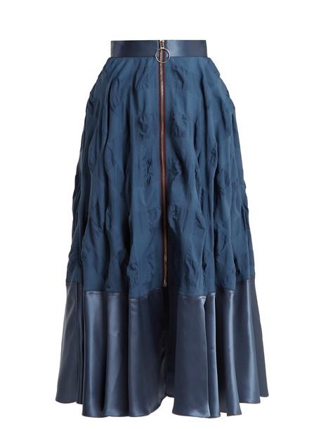 Roksanda skirt zip blue