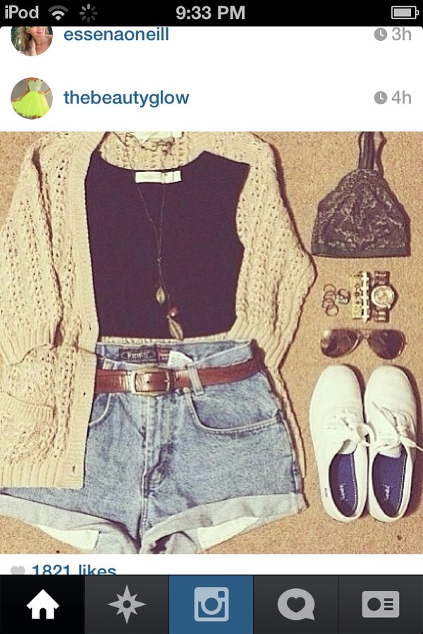 shorts high waisted denim shorts boho distressed shorts jewels shoes shirt sweater underwear