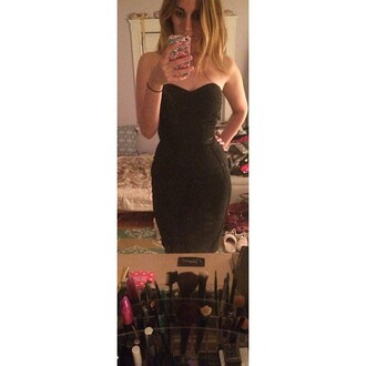 dress wow couture bandage dress strapless dress little black dress bodycon