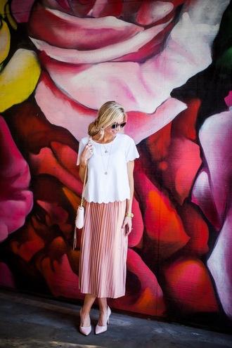 elle apparel blogger blouse skirt maxi skirt