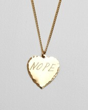 jewels,necklace,gold,pretty,engrave,heart,ulzzang