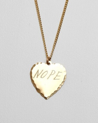 jewels necklace gold pretty engrave heart ulzzang