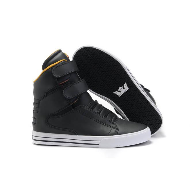 Supras Black/Anthracite/Orange TK Society Patent Leather Sneakers